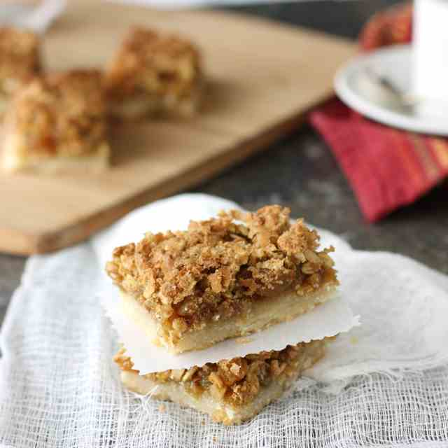 Oatmeal Butter Tart Squares