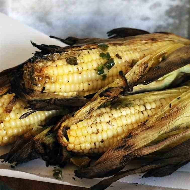 Pablano Grilled Corn on the Cob