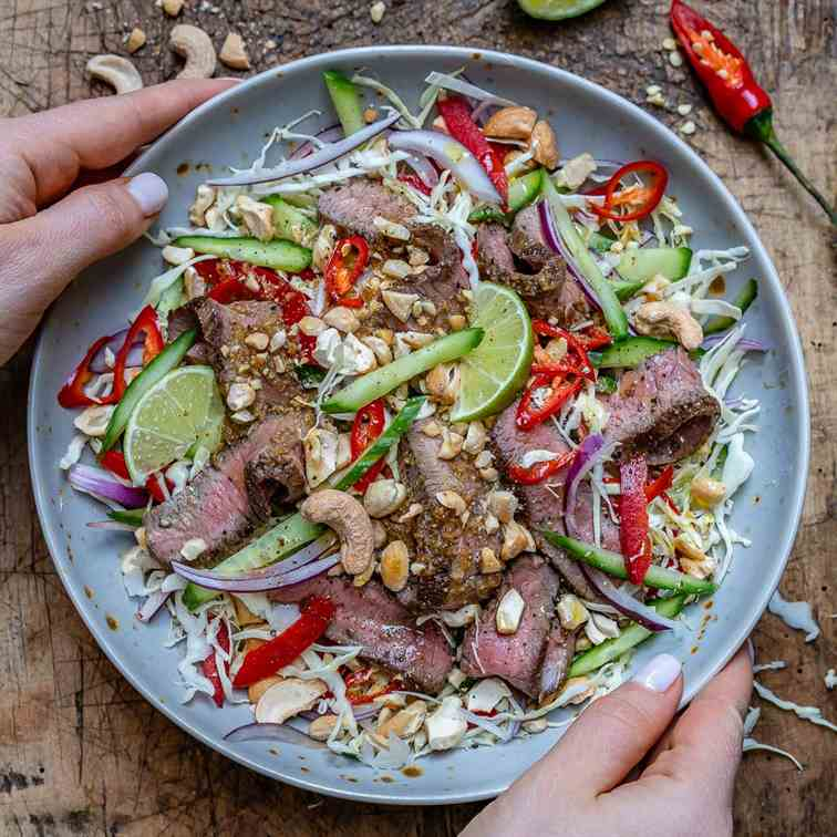 Thai Beef Salad Recipe -Keto-Paleo-Whole30