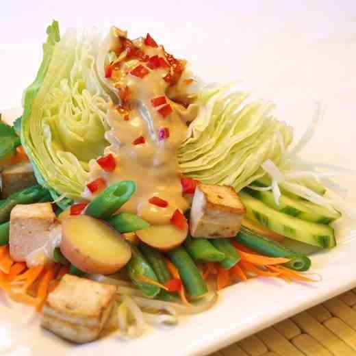 Gado-Gado Wedge Salad