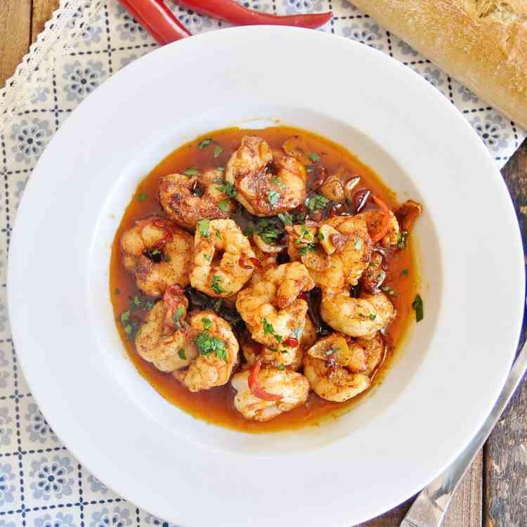 Spicy Spanish Garlic Shrimp