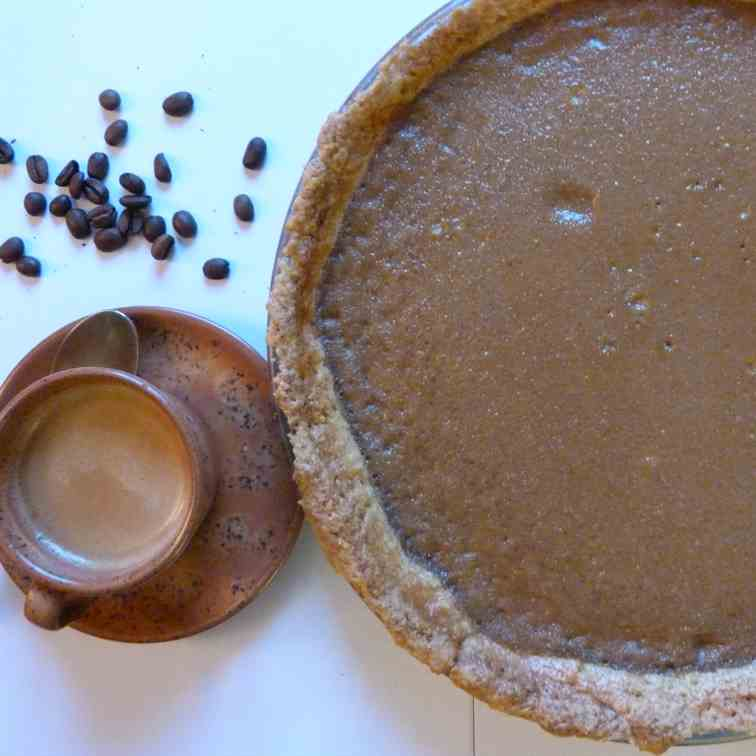 Coffee pie and vanilla crust