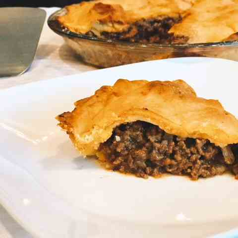 Meat Pie With Homemade Crust