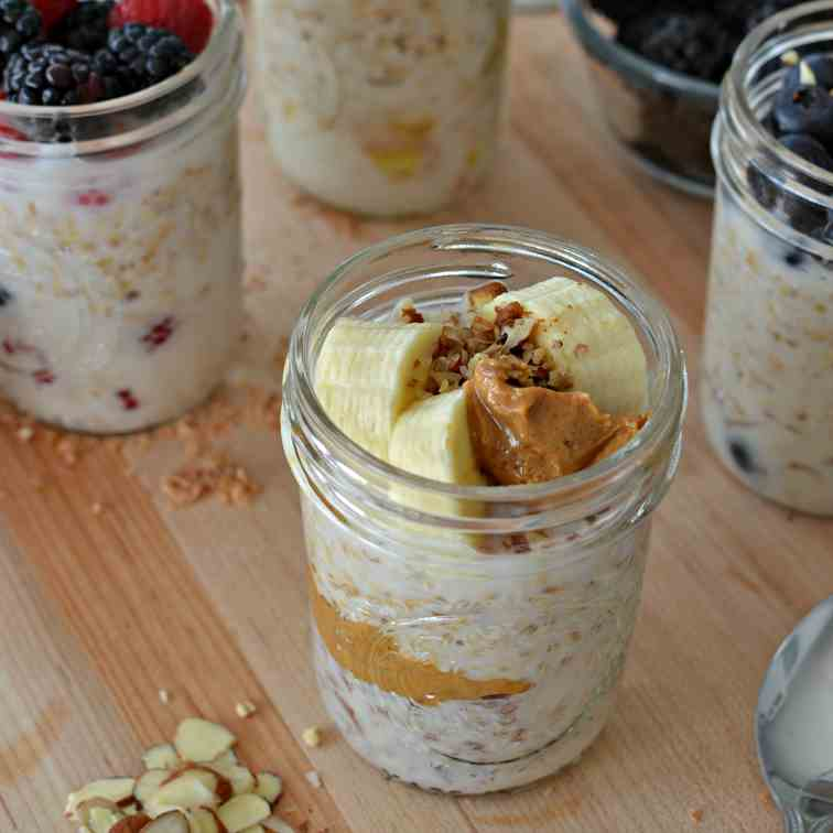Overnight Steel Cut Oats (Four Ways)