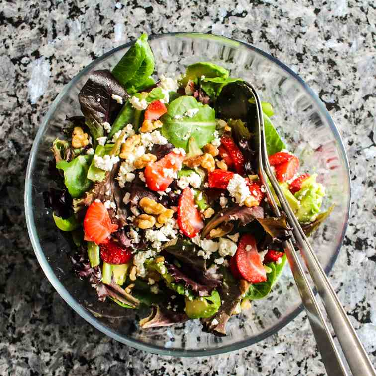 Strawberry and Feta Salad with Walnuts