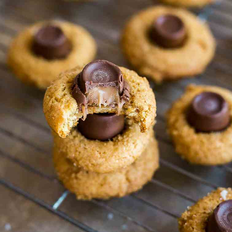 Salted Caramel Blossoms Cookies