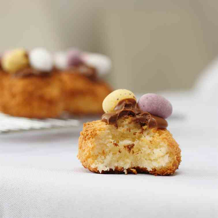 Coconut Macaroons with Mini Eggs
