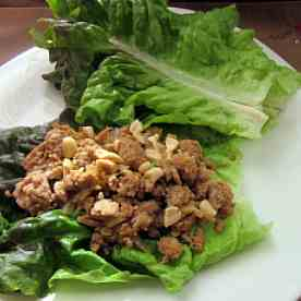 Spicy Asian Turkey Lettuce Wraps