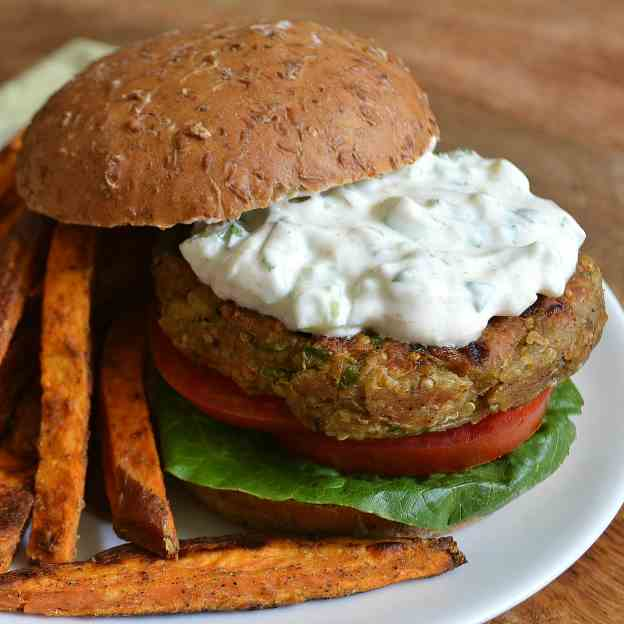 Indian-Spiced Veggie Burgers