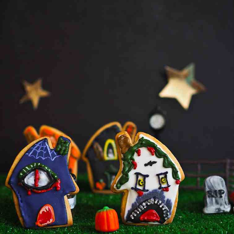 Elm Street Haunted House Cookies