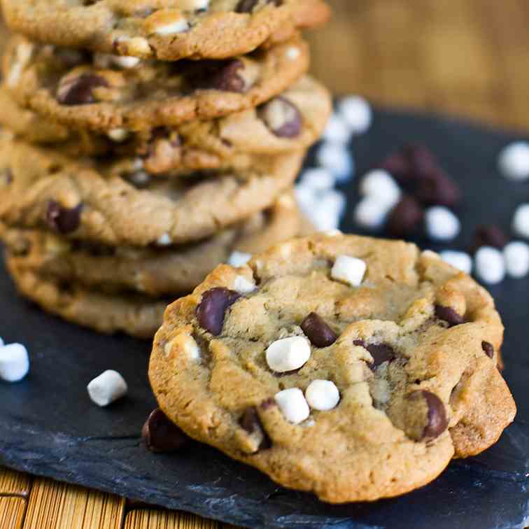 Brown Butter S'mores Cookies