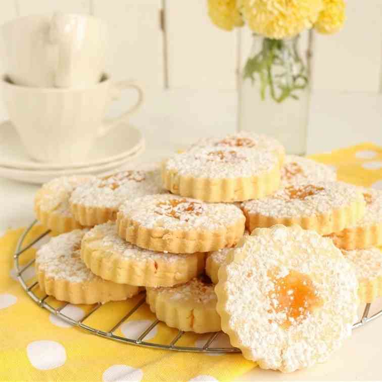 Lemon Curd Shortbread