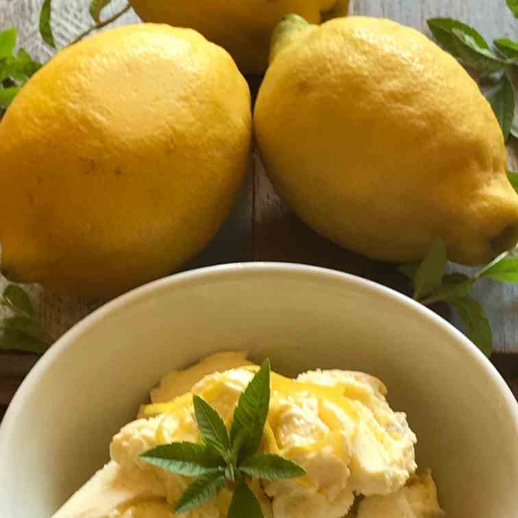 Lemon Verbena Ice-cream