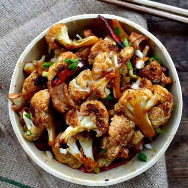 Easy Roasted Cauliflower Stir-fry