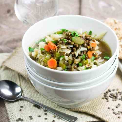 Green Lentil and Cabbage Soup
