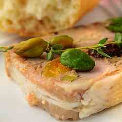 Pork, pistachio and fruit terrine